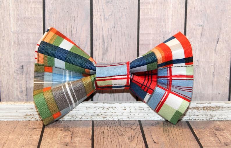 Madras Inspired Dog Bow Tie