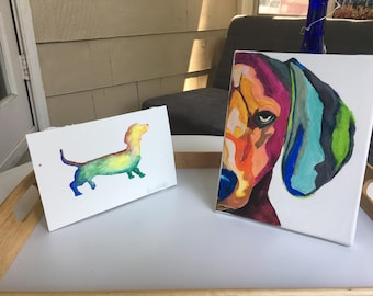 Custom Pet Painting, Watercolor or Acrylic, Free Shipping
