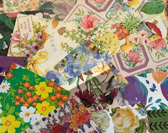 Floral wrapping paper etsy assorted vintage floral wrapping paper for junk journals collage scrapbooking decopauge mightylinksfo