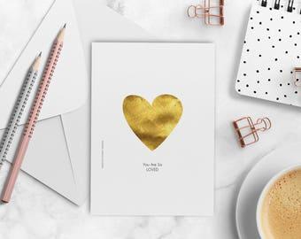 Grußkarte Hochzeitskarte romantische Karte illustrierte