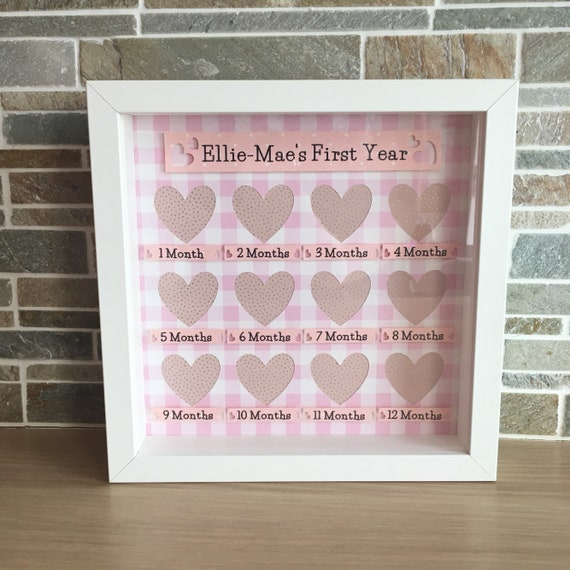 Baby Girl First Twelve Months Or Babies First Year 12 Mini Etsy