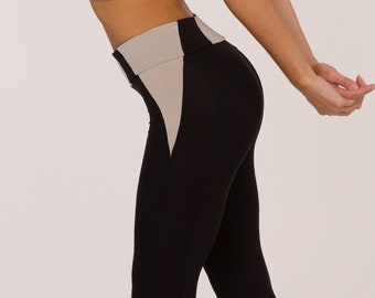 High Rise Legging, Bamboo Yoga Pants, Yoga High Waist Leggings, Sustainable Legging, Super Comfy Yoga Pants, Made in Italy