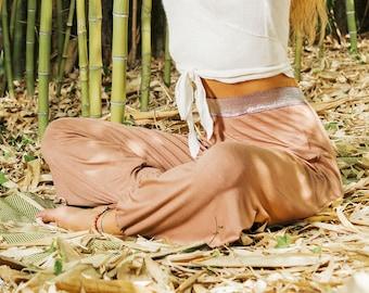 4b2acef6c1 Bambù Yoga Harem Pants, pantaloni Boho Womens Harem, Made in Italy