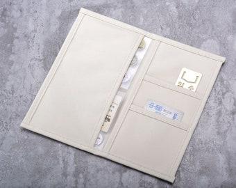 Fabric TN pocket insert canvas Travelers notebook credit card holder fit Midori planner case pouch Fabric standard personal passport