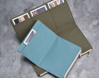Travelers Notebook accessories zipper pocket insert cardholder, TN standard personal passport, mini pocket journal, travelers journal