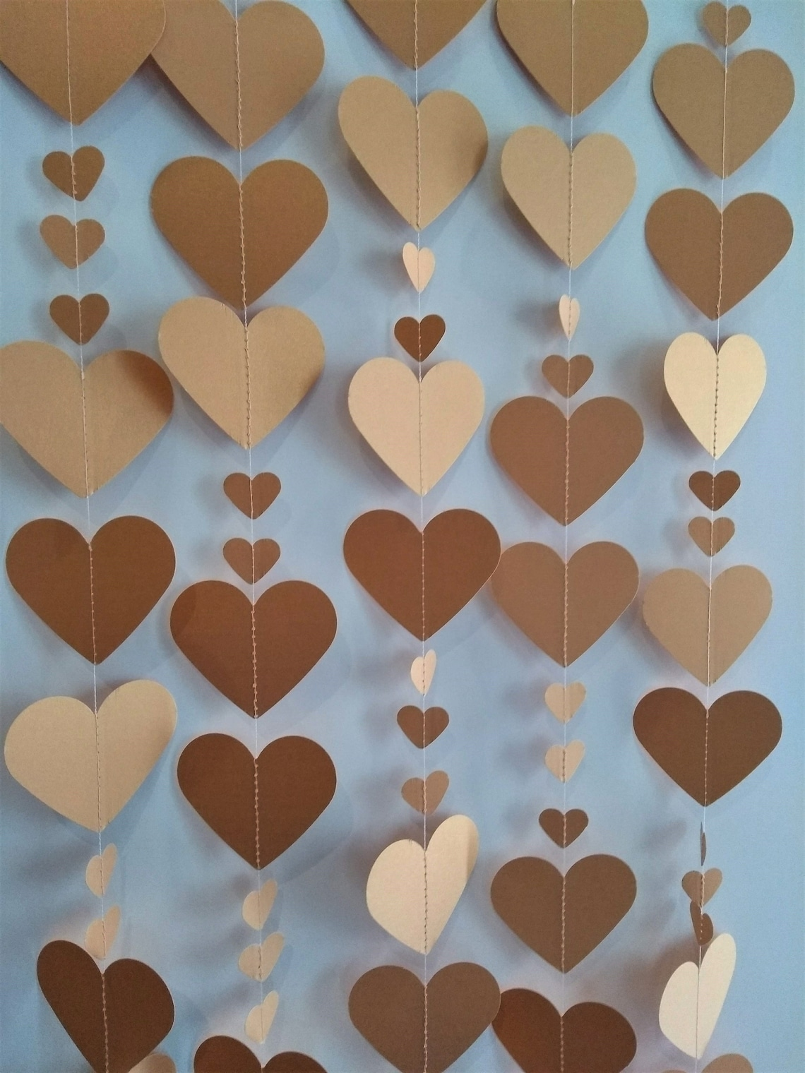 Rose Gold Heart Garlands