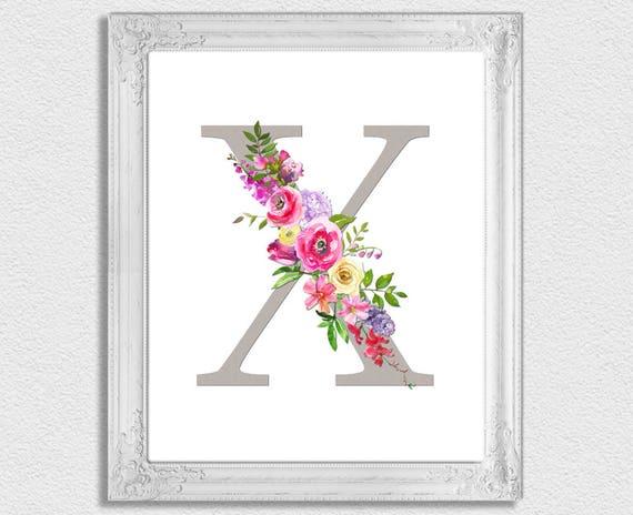graphic regarding Printable Monogram Letters referred to as Letter X Monogram, Floral Monogram, Nursery Monogram, Printable Monogram Letters, Initially Print, Letter X, Nursery Letters, Alphabet Letters
