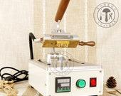 workonleather WT-90XT hot foil logo letter stamping embossing bronzing branding heat press machine leather paper wood diy leathercraft gift