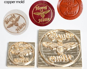 FREE SHIPPING Customize bee butterfly  Brass Mold for phone case paper wedding invitations card note personalize furniture branding stamping
