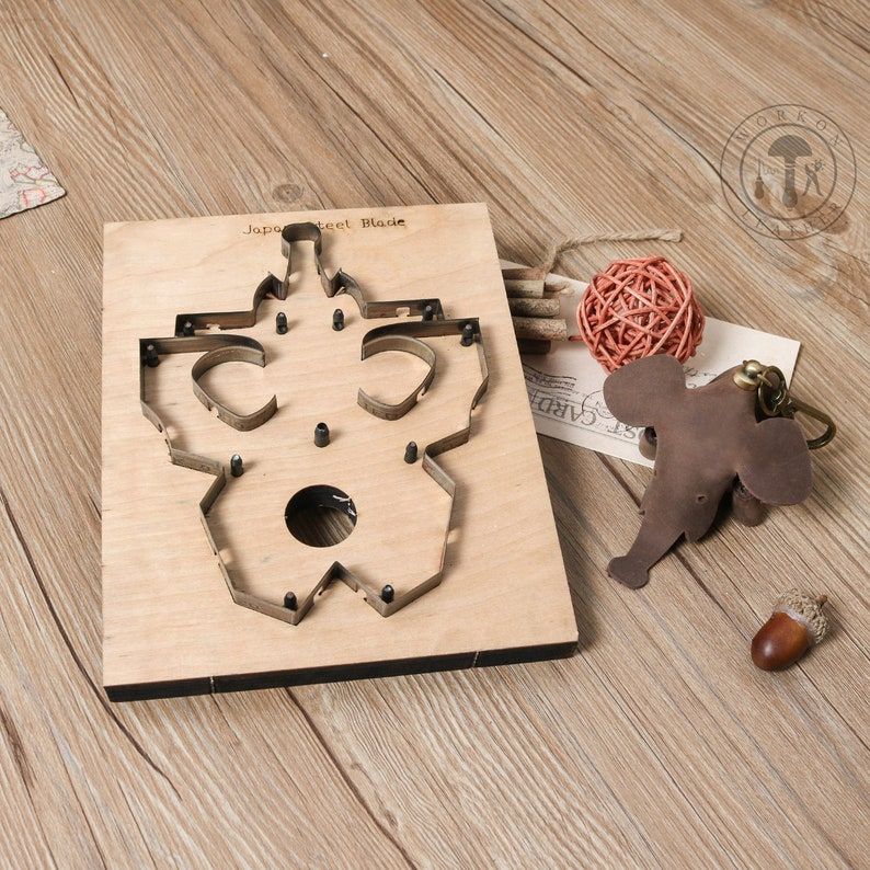WorkOnLeather DIY leather cutting die elephant shape leather decoration  tool for die cutting machine handicraft cutter key ring accessory