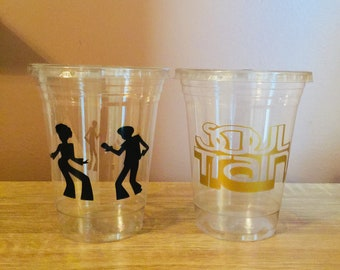 Soul Train Party Cups Retirement 70s Birthday Old School Favors