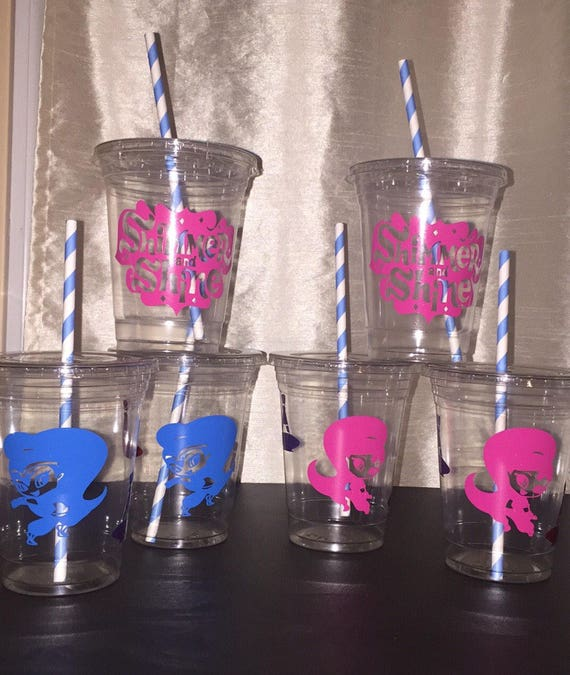 Shimmer And Shine Party Cups Birthday Cups Baby Shower Cups Etsy