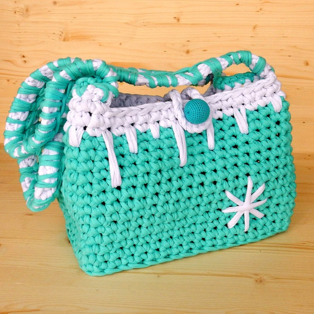 New Mom Gift Basket Crochet Bag For Girl Baby Bag For Waldorf Etsy