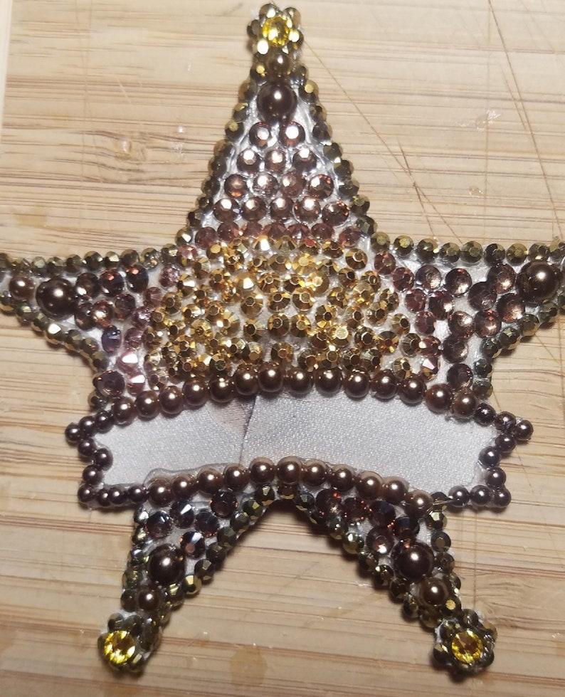 Sheriff Star Badge Nipple PastiesBurlesque PerformerCostume PieceCosPlayCabaretCarnivale Fashion