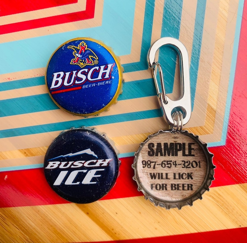 Busch Beer Bottle Cap Dog Tag, Busch Ice, Beer Dog Tag, Unique Pet Tag, Dog  Tag for Dogs, Personalized Pet Tag, Simple, Mountain Dog Tag