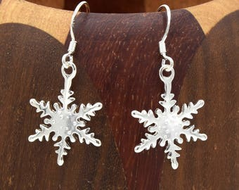 Snowflakes silver sterling 925 Silver earrings