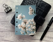 Pocket Size Planner Dashboard - Protective Cover for Ring Planner Inserts - Blossom Cluster- Floral