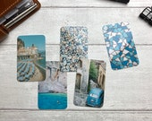 Journal Cards - Summer Holiday Blue Set - 5 Pack for Planner Deco - Use as Bookmarks, Decoration - Clip and Card Holder Options