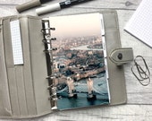 Personal Size Planner Dashboard - Protective Cover for your Ring Planner Inserts - London Tower Bridge - Thames