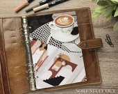 Latte Art & Earrings Dashboard - Fits A5, B6, Personal Wide, Personal, A6, Pocket, Mini Ring Planners. Protective Cover.