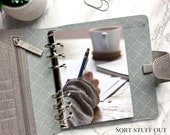 B6 Planner Dashboard - Protective Cover for Ring Planner Inserts - Studying with Coffee - Writing