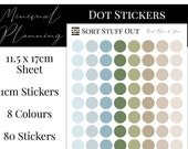 Beach Blue & Green Planner Dot Stickers - Colour Code your Planning. Minimal Planner Deco for All Planners. 80 Stickers on One Sheet