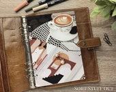 A5 Planner Dashboard - Protective Cover for Ring Planner Inserts - Latte Art & Earrings