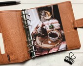 Autumn Cosy Afternoon Tea Dashboard - Fits A5, B6, Personal Wide, Personal, A6, Pocket, Mini Ring Planners. Protective Cover.