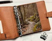 Autumn Moss Path Dashboard - Fits A5, B6, Personal Wide, Personal, A6, Pocket, Mini Ring Planners. Protective Cover.