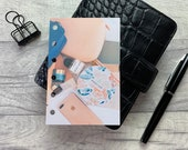 Pocket Size Planner Dashboard - Protective Cover for your Ring Planner Inserts - Blue and Coral Accessories - Phone & Makeup