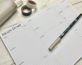 Brain Dump Pad - Organise Yourself with this A4 Desk Pad - Tear Off Sheets - Self-Care, Tasks, Dates, Ideas and Project Planning