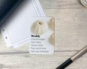 Custom Task Card - Neutral Pumpkin - Personalised Task Card for Your Planner - Add Tasks, Routines, Reminders - Functional, Minimal Deco