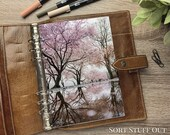 A5 Planner Dashboard - Protective Cover for Ring Planner Inserts - Blossom Lake - Floral