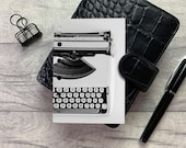 Pocket Size Planner Dashboard - Protective Cover for your Ring Planner Inserts - White Typewriter