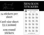 Mini Icon Stickers - Have a Soak - Functional Stickers for Planning. Minimal Planner Deco for All Planners. 24 Stickers on One Sheet