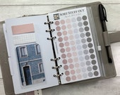 Personal Size Punched Planner Dot Stickers - Magnolia Pink Neutral  - Colour Code your Planning. Minimal Planner Deco for Personal Planners