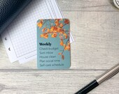 Custom Task Card - Autumn Sky - Personalised Task Card for Your Planner - Add Tasks, Routines, Reminders - Functional, Minimal Deco
