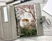 Personal Size Planner Dashboard - Protective Cover for your Ring Planner Inserts - Magnolia and White House - Spring Floral