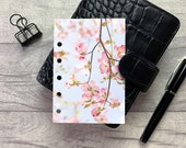 Pocket Size Planner Dashboard - Protective Cover for Ring Planner Inserts - Pale Pink Blossom - Floral