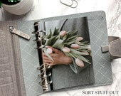 B6 Planner Dashboard - Protective Cover for Ring Planner Inserts - Winter Tulips - Floral