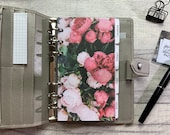 Bouquet of Pink Peonies Dashboard - Fits A5, B6, Personal Wide, Personal, A6, Pocket, Mini Ring Planners. Protective Cover.
