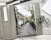 Personal Size Planner Dashboard - Protective Cover for your Ring Planner Inserts - London - Cobbled Street
