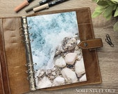 A5 Planner Dashboard - Protective Cover for Ring Planner Inserts - Pebble beach - Sea - Beach