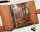 Autumn Sunlight - Fits A5, B6, Personal Wide, Personal, A6, Pocket, Mini Ring Planners. Protective Cover.