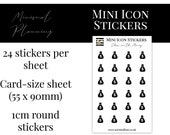 Mini Icon Stickers - Show me the Money - Functional Stickers for Planning. Minimal Planner Deco for All Planners. 24 Stickers on One Sheet