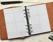 WO2P Vertical Undated Weekly with Tasks & Habits. Minimal Grid Printed Insert - A5, B6, Personal Wide, Personal, A6 and Pocket Ring Planners