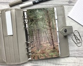 Personal Size Planner Dashboard - Protective Cover for your Ring Planner Inserts - Woodland - Forest