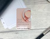 Custom Task Card - Pink Latte - Personalised Task Card for Your Planner - Add Tasks, Routines, Reminders - Functional, Minimal Deco