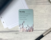 Custom Task Card - Lavender Field - Personalised Task Card for Your Planner - Add Tasks, Routines, Reminders - Functional, Minimal Deco