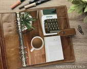 Typewriter, Coffee, Pot Plant and Book Dashboard - Fits A5, B6, Personal Wide, Personal, A6, Pocket, Mini Ring Planners. Protective Cover